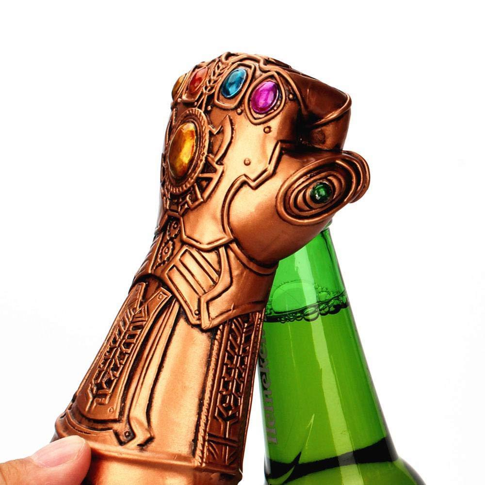 Apribottiglie di birra, Marvel Infinity War Infinity Guanto Thanos, apribottiglie, ideale per bar, feste, amanti della birra, ottimo regalo di compleanno per i fan della Marvel