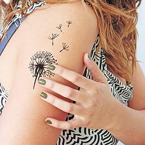 Diente de león - Tatuaje temporal (conjunto de 2): Amazon.es: Handmade