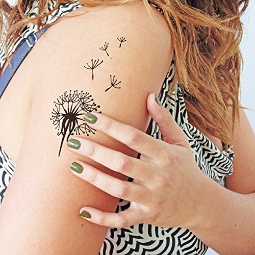Dandelion Temporary Tattoo Set Of 2 Amazoncouk Handmade