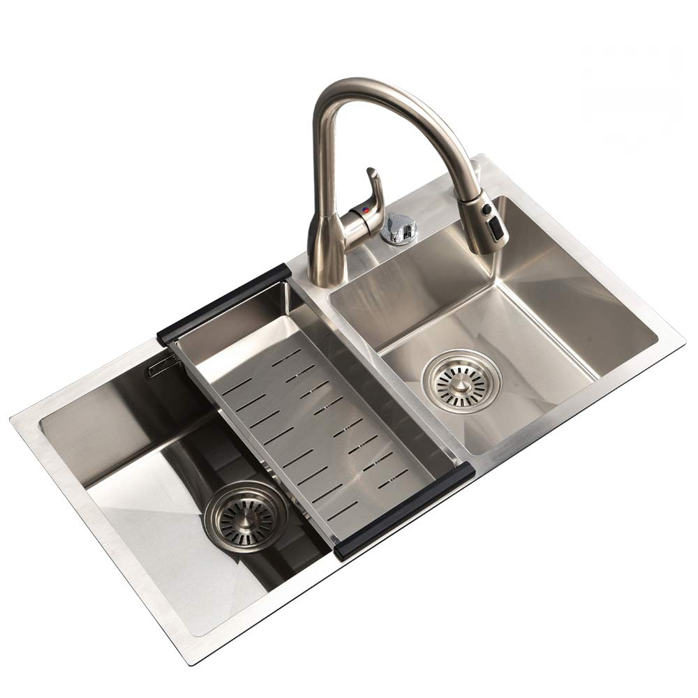VESLA HOME 30.7- inch Double Bowl 304 Stainless Steel Kitchen Sink