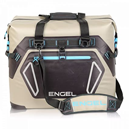 a89718c1c Amazon.com : Engel HD30 Waterproof Soft-Sided Cooler Bag - Tan/Blue :  Sports & Outdoors