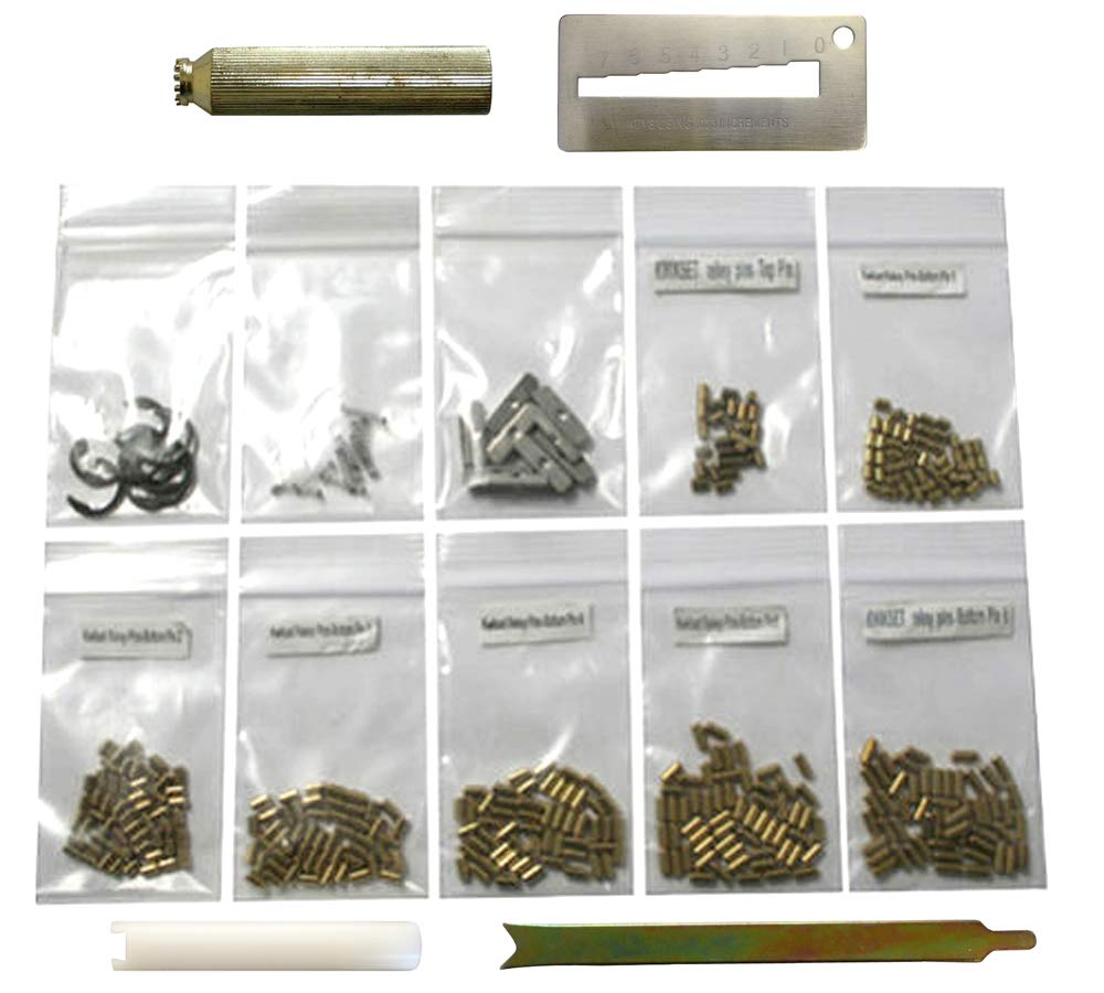 Kwikset 50 Each Bottom Pins with Pin Cover Spring Plug Clip Tools Rekey Kit Rekeying Set Locksmith by eBuilderDirect.com