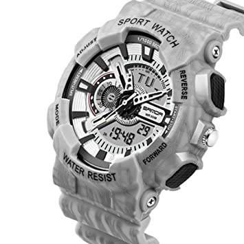 2018 Men Sports Foundation Light Flash Relojes Cronógrafo Military Digital Wrist Relojes a Prueba de Agua: Amazon.es: Deportes y aire libre