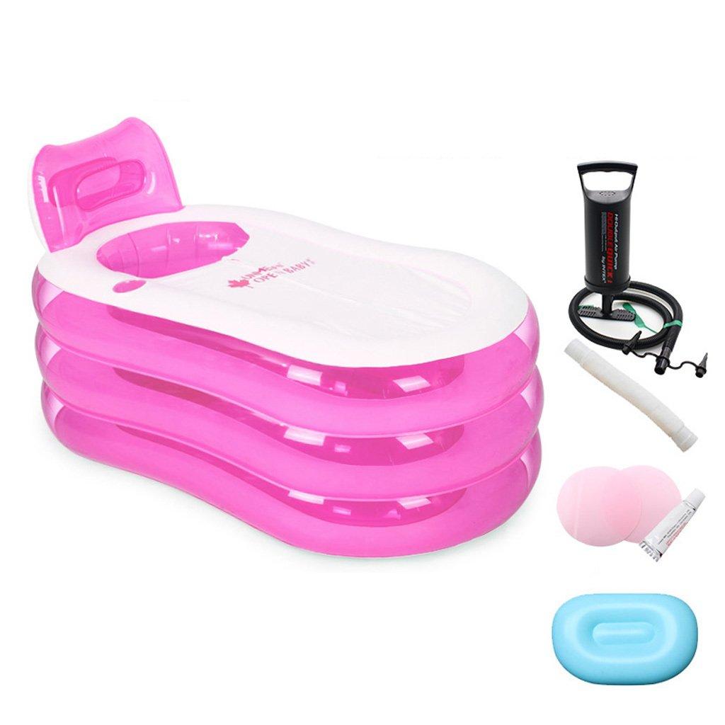 XL- シンプルなインフレータブルバスタブ大人のおしゃべりバス折りたたみ式浴槽プラスチック製バレルシャワーバスタブバケツ家庭用 (Size : A) B07SM7FC3K  A