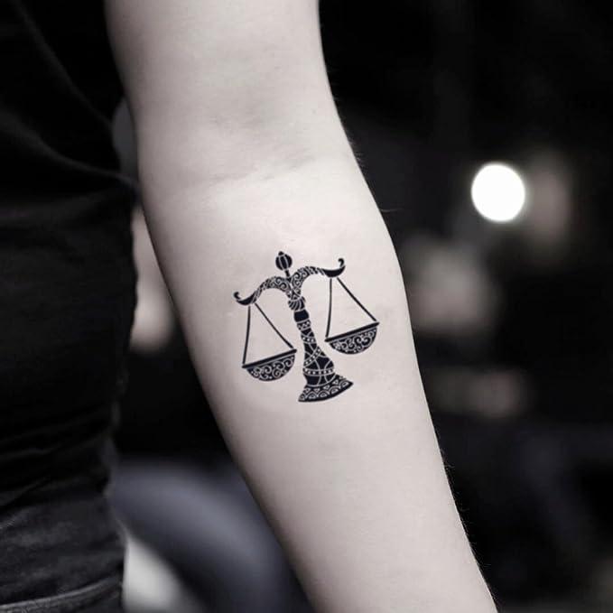 Tatuaje Temporal de Signo de libra (2 Piezas) - www.ohmytat.com ...