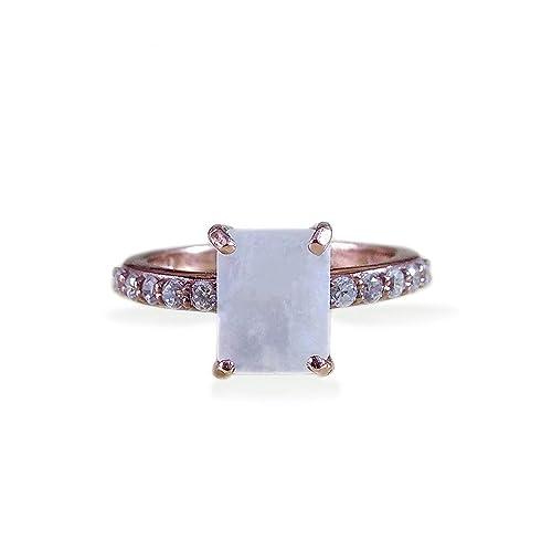 Rainbow Moonstone Sterling Silver Ring Gemstone Jewellery Ladies Ring Women Jewellery Accessories Natural Moonstone Handmade Gift For Her