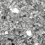 """Clear Reflective 1/4"""" Fire Glass Made in USA (10Lbs)"""