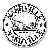 3 Pack - Nashville Tennessee Vinyl Sticker Decal - Sticker Graphic - Construction Toolbox, Hardhat, Lunchbox, Helmet, Mechanic, Luggage