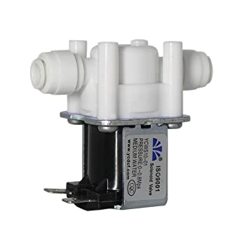 Fakerba Ac 110v Inlet Water Solenoid Electric Valve 1 4 High Pressure Normally Cosed Quick Connect Electric Valve For Ro Machine Water Dispenser Water Purifier Etc Amazon Com Industrial Scientific
