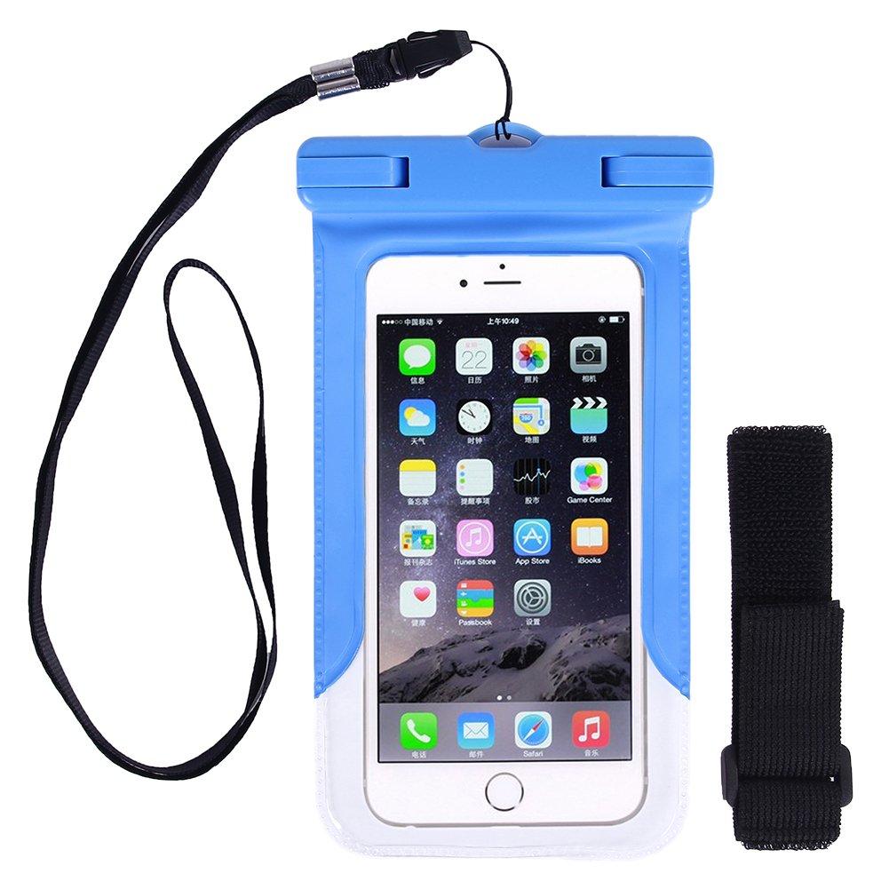 Kottle Custodia Universale Impermeabile per iPhone 6s Plus/6S/6/6 Plus, Samsung Galaxy S6/S6 Edge, ideale fino a 5.5 Cellulari, polvere/neve/Custodia impermeabile, Certificazione IPX8 a 65 Feet, arancione