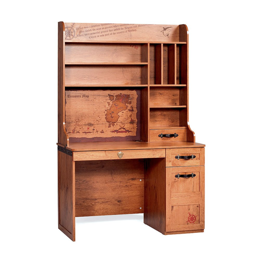 Cilek Kids Room Pirate Collection, Desk with Hutch