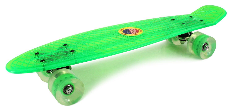 激安人気新品 Clear by Street Cruiser Trucks ABEC-7 Complete 22 Banana Skateboard w/ 58mm Wheels, ABEC-7 Bearings, Metal Trucks (Green) by Skateboards B00OJOIMNK, ユニチョウ:11465b2c --- a0267596.xsph.ru