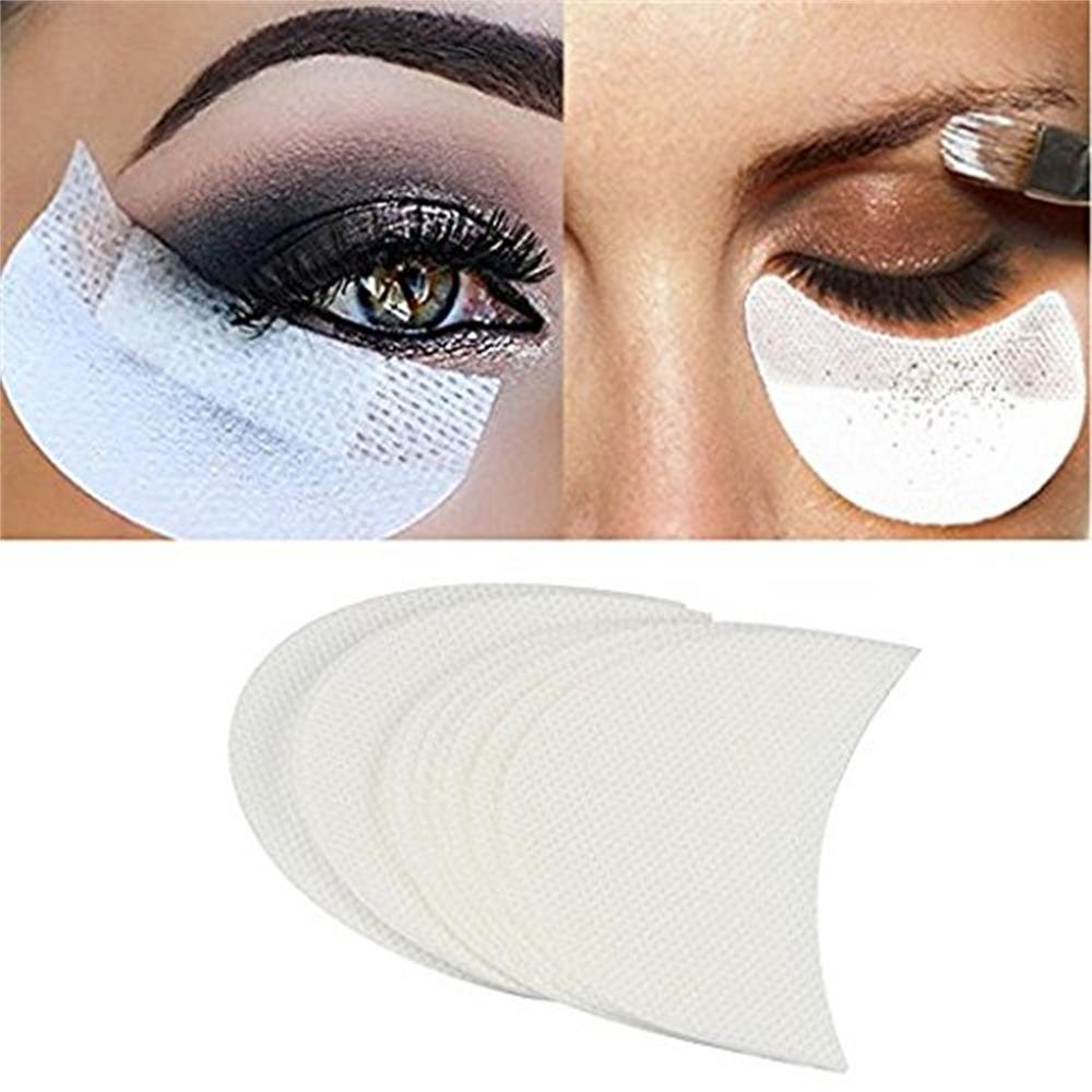 10 pcs Makeup Eye Pad Stickers, BuycheapDG Soft Non-woven Eyeshadow Shield Protective Pads Lint Under Eye Pad Stickers For Eyelash & Eye shadow Tinting Eye Make Up Help Made in China