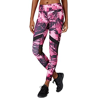 d0b04ea49 Ideology Womens Mesh Printed Athletic Leggings Pink XS at Amazon Women s  Clothing store