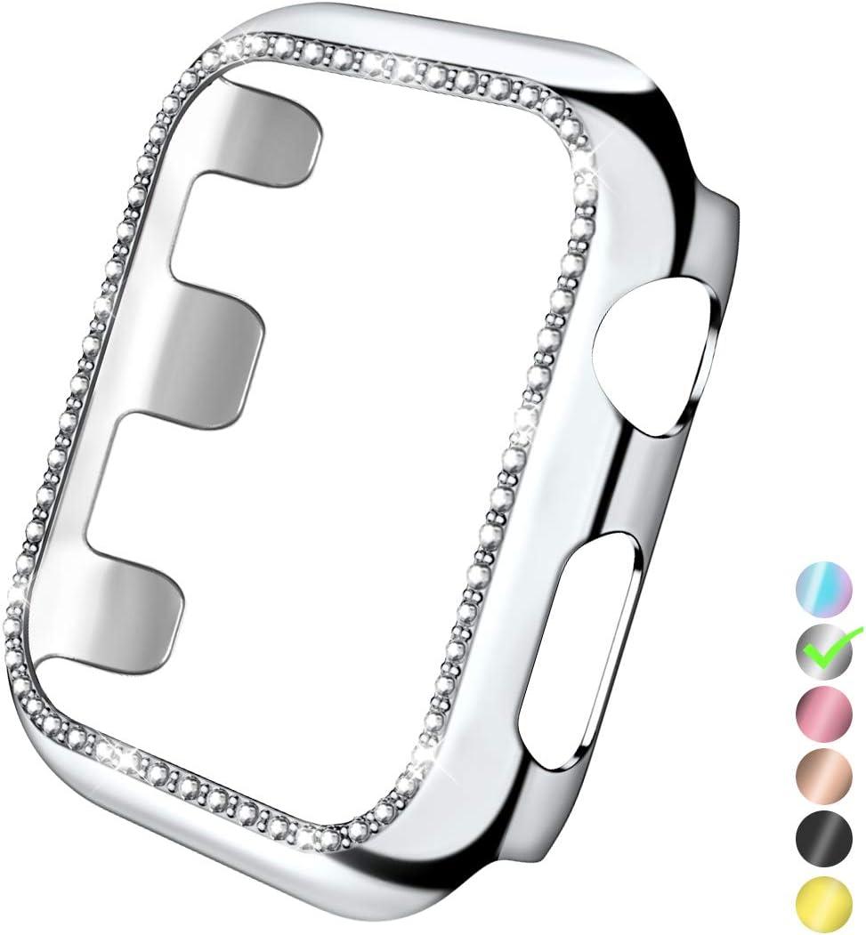 funda para apple watch 42 mm, plateada