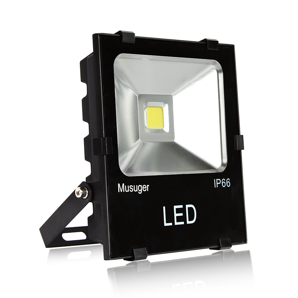 Musuger 50W High Power Outdoor LED Flood Light Daylight White 6000K, 4500lm, Waterproof IP66 Security Lights by Musuger (Image #1)