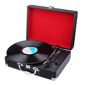 Tocadiscos portátiles de Vinilo Spardar Turntable con ...
