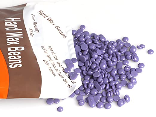Amazon.com : Bluezoo Body Hair Removal Hard Wax Beans for Men, Women, Stripless Depilatory Wax -10 Ounces/bag (Purple) : Beauty