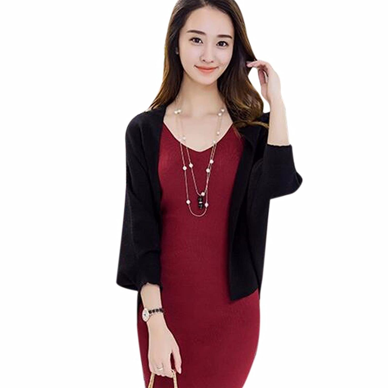 Fashion Women Long Bat Sleeve Loose Sweater Shawl Cardigan Sweater Coat Casual