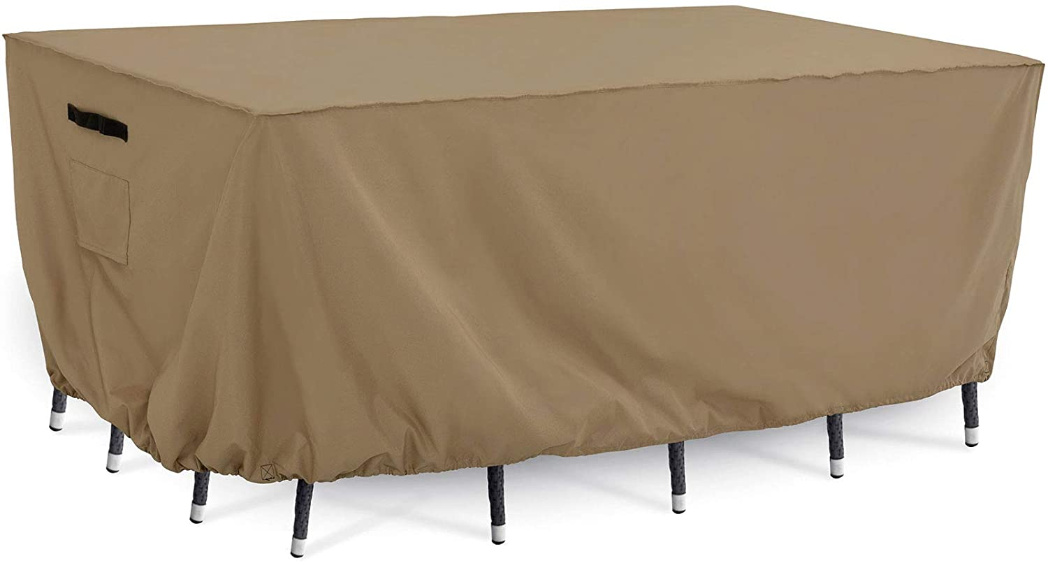Tempera Patio Furniture Cover, Outdoor Table Set, Sectional Sofa Cover, UV Resistant, Waterproof for Outside Furniture, Taupe, 108x82 inches