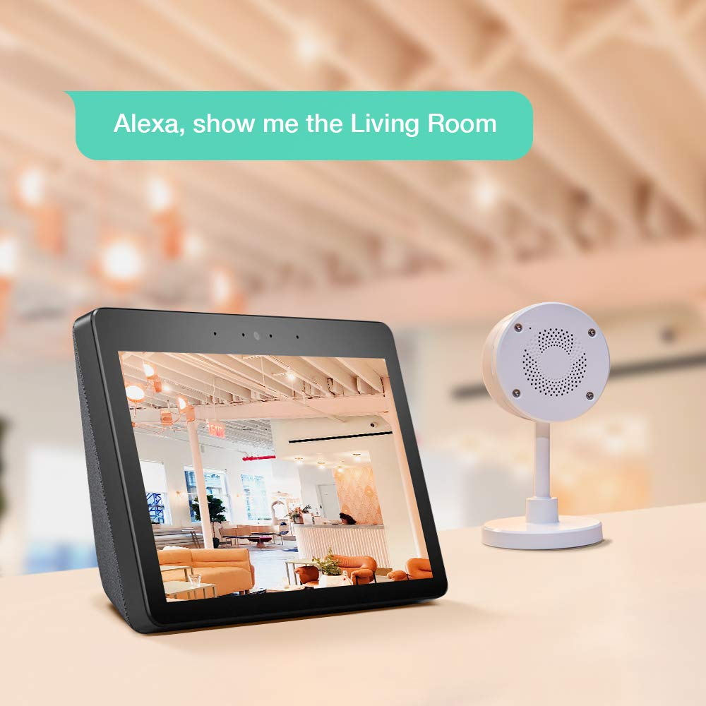 LARKKEY WiFi Home Security Surveillance Camera 1080P, Smart Baby Monitor Compatible with Alexa and Google Home, Motion Detection & Tracker, Night Vision by LARKKEY (Image #7)