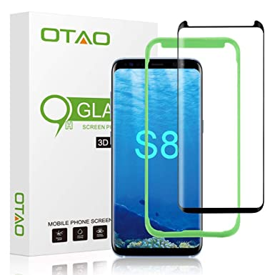 new concept 7d37f 8a5de OTAO [Tray Installation] Samsung Galaxy S8 Screen Protector,  [Case-friendly] Tempered Glass Screen Protector with Positioner for Galaxy  S8