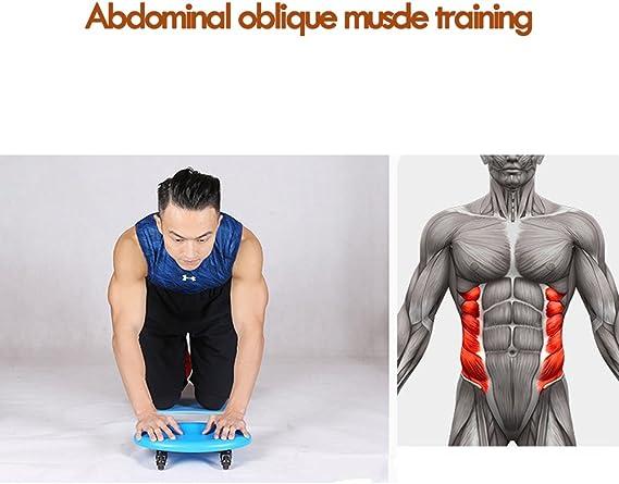 Disco de fitness abdominal para cuatro ruedas Dee Plus rodillo deslizante para equipamiento color azul gimnasio bolsas de almacenamiento de regalo y rodilleras Ultimate Core Trainer casa abdominal y equipo de entrenamiento corporal total