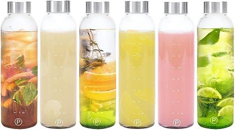 Pratico Case Kitchen Glass Is Leakproof Juicing Container Water Drinks Bottle 18oz E Amazon De Kuche Haushalt