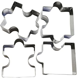 Gorse Puzzle Pieces Stainless Steel Fondant Cutter Cookie Cake Art Birthday Party Decoration Mold