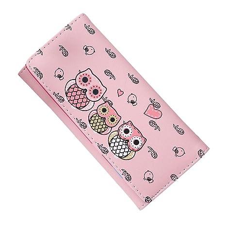 Malloom® nuevo moda El bloqueo de color dama mujeres chica largo monedero embrague billetera Bolsa