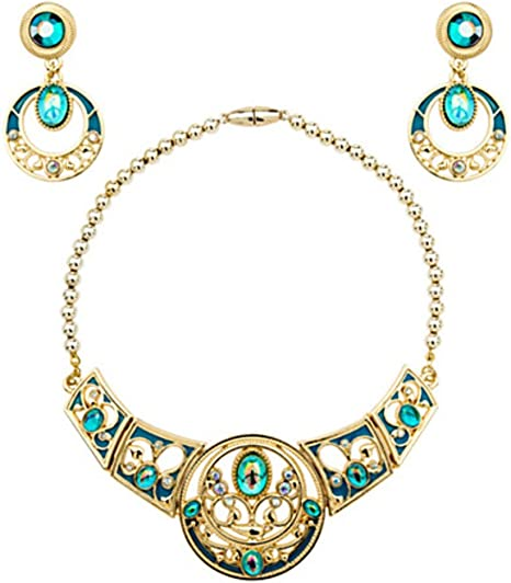 New Disney Store Princess Jasmine Costume Jewelry Set Necklace