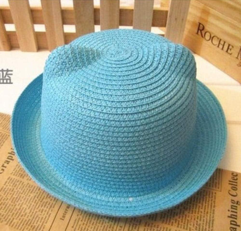 Geekcook Gorras y Sombreros protección UV,Sombrero Infantil con Oreja Sombrero de Paja-Cielo Azul_Talla única