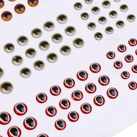 183Pieces Pack 3D Fischköder Augen rot weiß blau Multi Farbe und