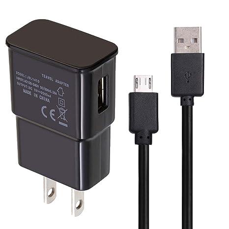 USB Charger Data Cable Compatible Samsung Galaxy J7, T-Mobile REVVL/REVVL Plus, BLU Life One X3