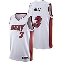ZEH Camiseta de la NBA Boaze Dwayne Wade – Miami Heat 3 Swingman Edition Jersey, Sportswear, unisex sin mangas (color…
