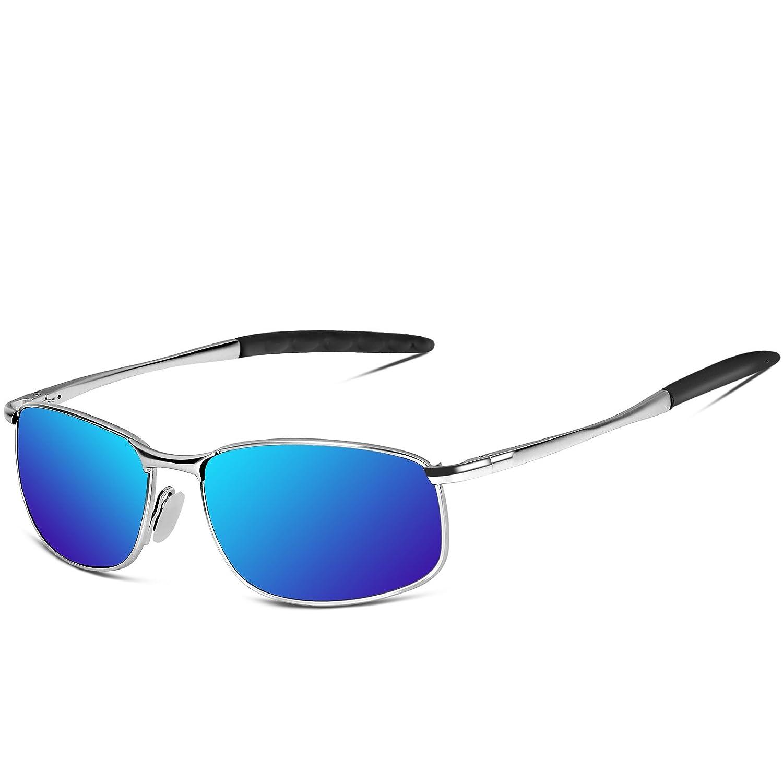 SUNMEET Gafas de sol Hombre Deportivas Polarizadas Golf Gafas de sol Hombre Polarizadas Marco Metálico S1002