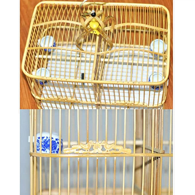 Cama Impermeable para Mascotas Jaula de pájaros de bambú Loro ...