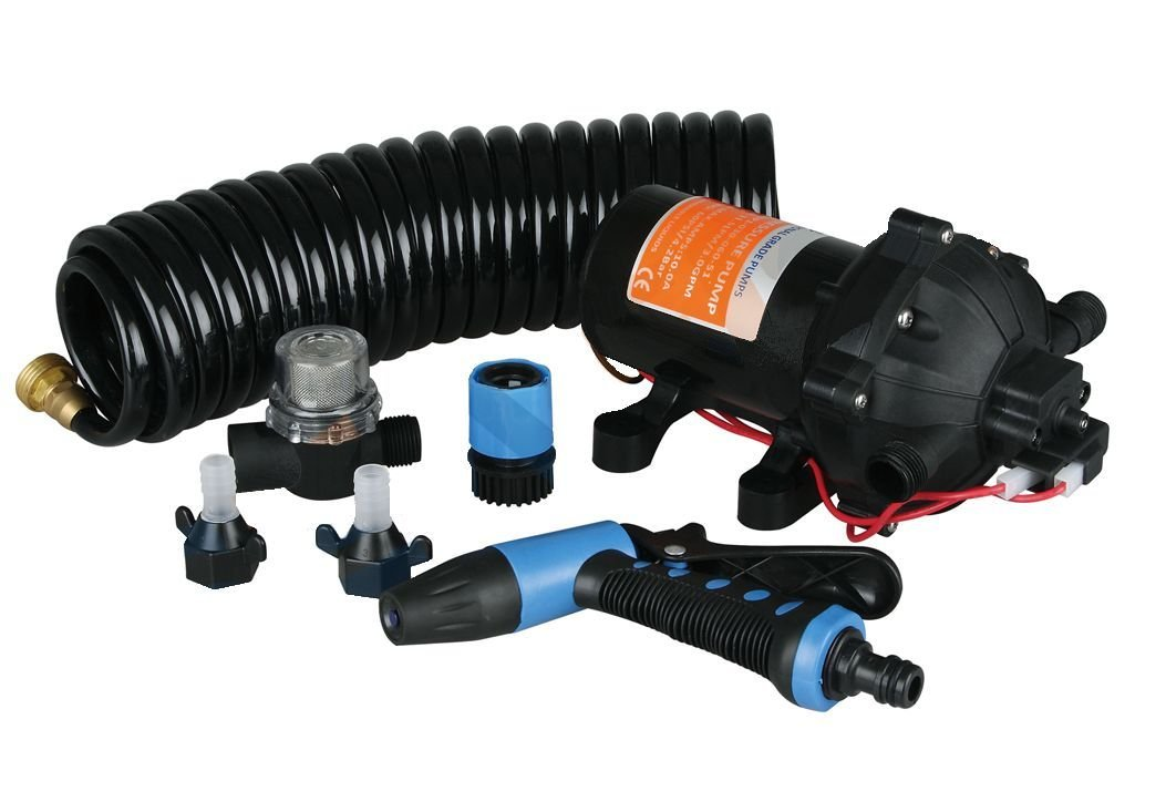 70 PSI Washdown Deck Wash Pump KIT 12v 5.0 GPM for Caravan Rv Boat Marine Yacht - Five Oceans by Seaflo