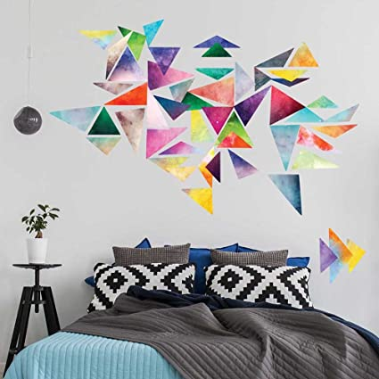 Amazoncom Chromantics Watercolor Triangle Wall Decal Kit Create