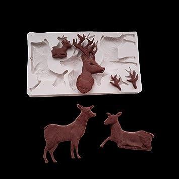 Septiembre de Navidad ciervos AMD jengibre hombre Fondant ...