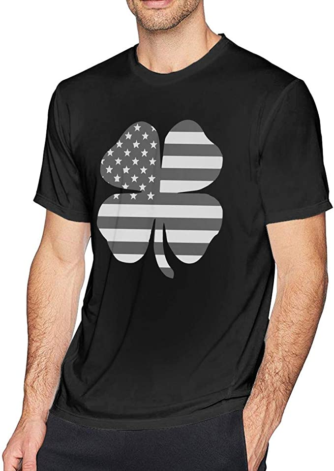 wwoman Clover Bandera Americana Americana Patriotic Camiseta Adulto Loose-Fit Cuello Redondo Camisetas Camisetas Tallas Grandes: Amazon.es: Ropa y accesorios
