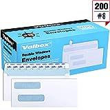 ValBox 200 Count #8 Double Window Envelopes 3
