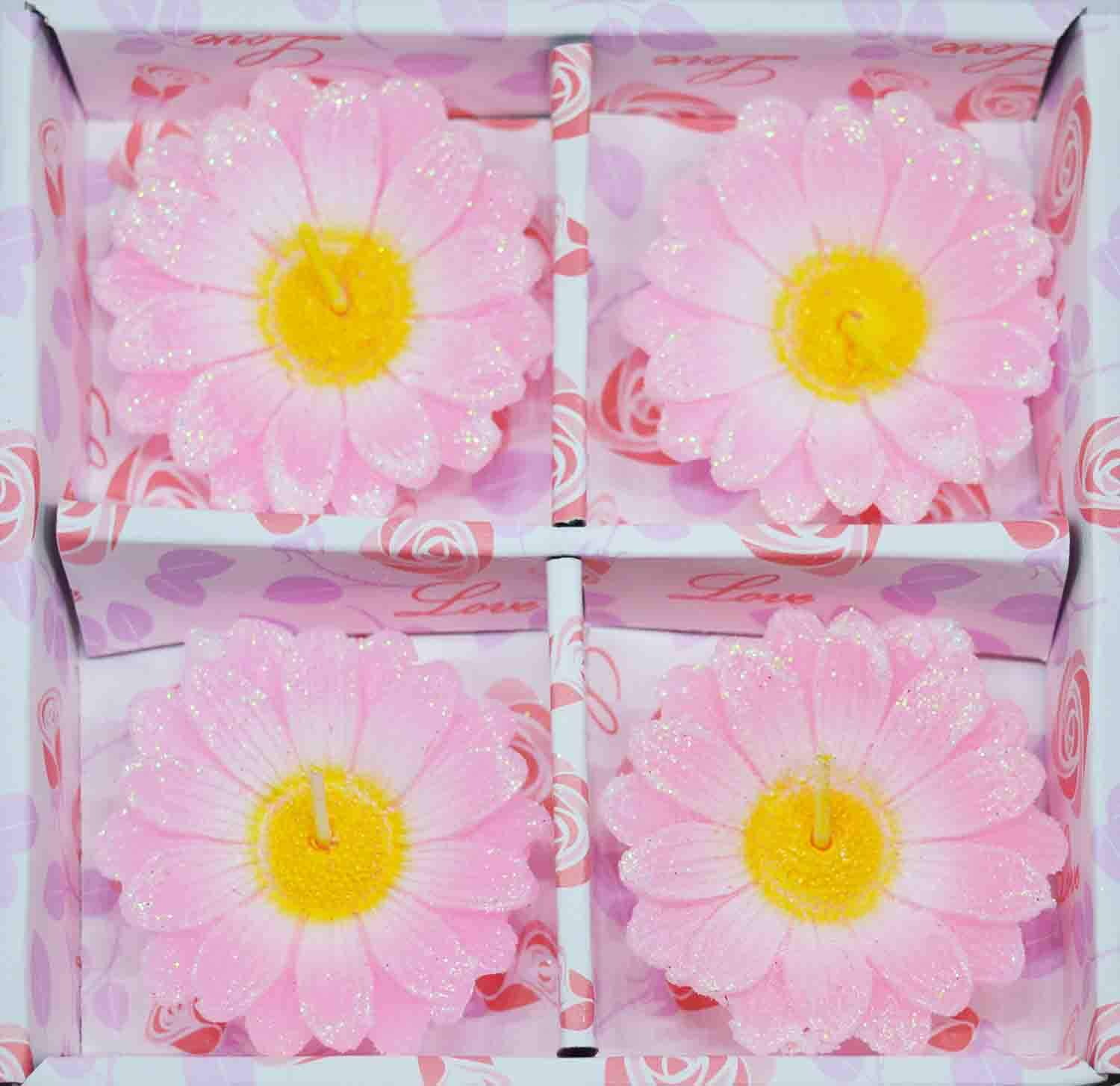 DAISY FLOWERS FLOATING TEALIGHT CANDLES VALENTINE/'S DAY DECOR 10 PCS