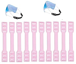 Adjustable Ear Elastic Strap Hook Extender, Ear Protector,Anti-Slip Comfortable Hook Protect from Wearing Long-time for Nurse Dust-Workers Food-Workers Men Women Kids 10 pcs (Pink)