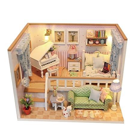 Amazon Com Monkeyjack Diy 3d Mini Dollhouse Furniture With Dust