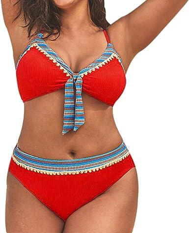 Traje de Baño Bikini Conjuntos Mujeres brasileños Sexy Mujer Push Up Bañadores Biquinis Top de Bikini Triángulo Liso Mujer Bikinis Leopardo Brasileños Mujer Push up 2019 Bañador Sexy de Dos Piezas: Amazon.es: