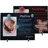 Lote: 1 Marco de fotos para Padrino + 1 Madrina - Regalo para bautizos,