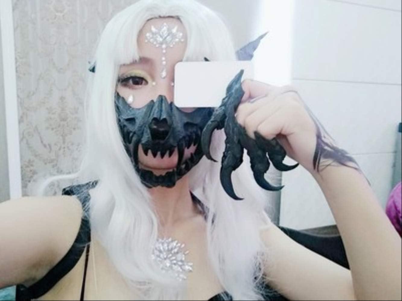MSSJ Escritor japonés Máscara de Halloween Dos Vestidos de Yuan Cos Dragón Dios Tigre Máscara de Resina Yasha 13 13