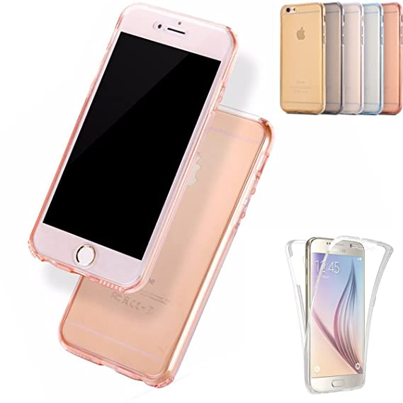 new style 4b4f9 4d20b iPhone 4s Cases, iPhone 4 Case, AMASELL Full Coverage 360 Front and Back 2  in 1 Protective Case Shockproof TPU Gel Transparent Clear Cover for iPhone  ...