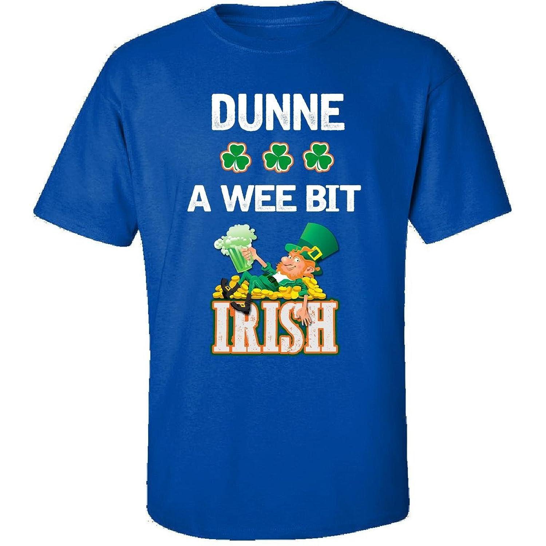 St Patricks Day Shirt Dunne A Wee Bit Irish Gift - Adult Shirt
